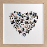 Collage Heart- Instagram printed squares, collage, and frame!!