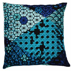 Cushion Inserts, Cushion Covers, Blue Tones, Teal Blue, Pink Color, Colour Colour, Teal Cushions, Geometric Fabric, Different Tones