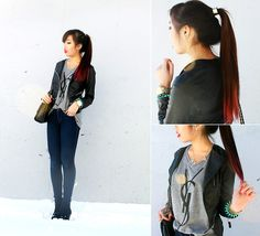 YSL AND LEATHER (by Christine Hsu) http://lookbook.nu/look/4393615-YSL-AND-LEATHER