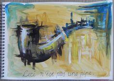 Rene Magritte - Ceci n'est pas une pipe #art #painting