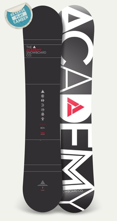 Academy Snowboards - Icon  Flat kick twin tip. Rides like a skateboard.