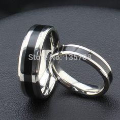 Fashion Jewelry Black Titanium Band Stainless Steel Ring For Men Women Size Titanium Wedding Rings, Titanium Rings, Fashion Rings, Fashion Jewelry, Fashion Men, Women Jewelry, Daily Fashion, Fashion Brand, Couple Noir