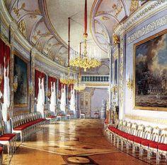 Gatchina Palace Chesma Gallery in watercolors by Edward Hau.