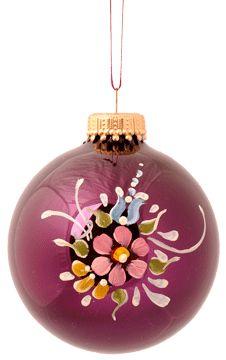 Decorating Ornament Balls Glass Christmas Tree Ornament Hand Paintedfolkartbynancy