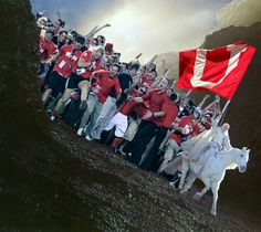 Ute fans rush Helms Deep.