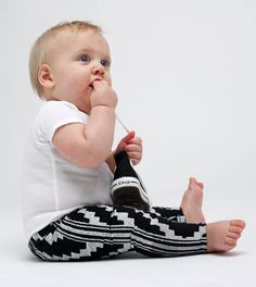 Hand Printed Baby Leggings (Choose Your Color). Available in sizes 3-6months/6-12 months/12-18 months/18-24 months/2T/4T/6T $38.00, via Etsy.