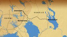 Joensuun ja Petroskoin välistä junaliikennettä selvitetään. Proposed tain link between Joensuu, Sortavala and Petroskoi.