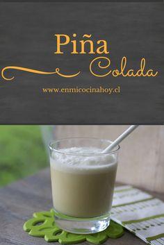 Una receta sencilla y deliciosa para hacer una jarra de piña colada en casa y compartir con amigos. Chilean Recipes, Chilean Food, Pina Colada, Summer Recipes, Happy Hour, Glass Of Milk, Food And Drink, Appetizers, Drinks