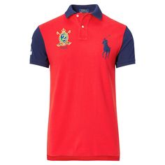 Ralph Lauren debuted his original Polo shirt in 1972, and today the iconic design is offered in a wide array of colors and fits. This cotton mesh version is cut for a slim shape and embroidered with the number worn by one of the highest-ranking players on a polo team.
