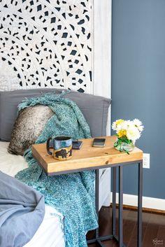Ikea Living Room Tables, Ikea Side Table, Side Tables Bedroom, Wooden Side Table, Farmhouse Side Table, Design Lounge, Design Loft, Table Design, Plywood Furniture