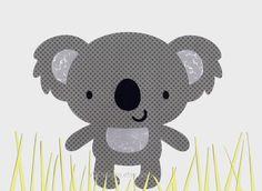 Sweet Koala Bear - Nursery Art Print Kids Wall Art Baby Room Wall Decor by vtdesigns, $14.00