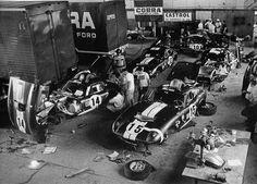 Carroll Shelby's factory floor.  #shelby #car #cars #racing #american #history