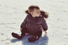Snow + gorgeous baby