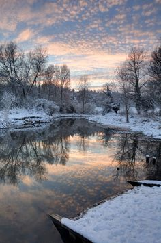 photo: mountain winter scene at sunrise .. All is Still ... gorgeous reflections ...