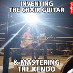Jericho and Ambrose rocking out