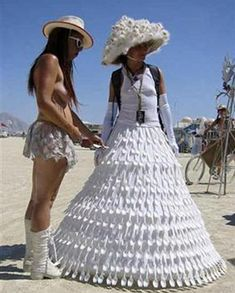 ugly wedding dress...I don't even know WHAT it's made of, let alone the fact that it's just butt ugly