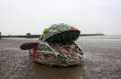 Vis van plastic