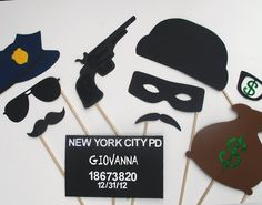 Cops & Robbers Photo Booth Prop Collection. Best Police Officer Props.