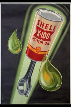 Shell oils vintage poster