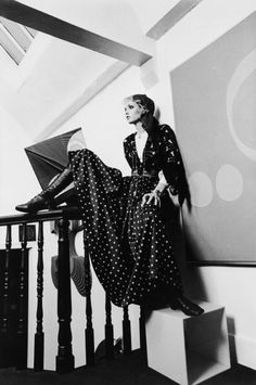 Twiggy in polka dots, 1968