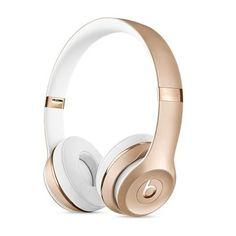Beats on-ear bluetooth koptelefoon goud Headphones Online, Wireless Headphones, Beats Headphones, Over Ear Headphones, Ipad Pro Apple, Beats Solo, Gold Beats, Headphones With Microphone, Beats By Dre