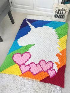 21 Ideas crochet unicorn blanket my little pony Crochet Unicorn Blanket, C2c Crochet Blanket, Graph Crochet, Crochet Potholders, Crochet Blanket Patterns, Crochet Unicorn Pattern Free, Pixel Crochet, Crochet Stitch, Crochet Home