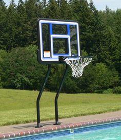 Swimming Pool Games: SR Smith Swim-N-Dunk Double Post Basketball Game Water Pool Games, Fun Pool Games, Swimming Pool Games, Pool Water, Basketball Games, Sports Games, Volleyball Set, Pool Porch, Splish Splash