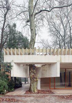 Nordic pavilion, Sverre Fehn 1958.