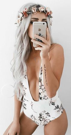 #summer #outfits  White Floral One Piece Swimsuit - Tap the link now to see our super collection of accessories made just for you!