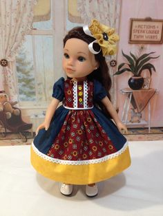 Hearts 4 Hearts  Sunflower Patchwork Princess dress by craftymagaw