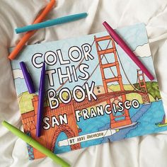three of my favorite things san francisco bright colors and abbi jacobson - Abbi Jacobson Coloring Book