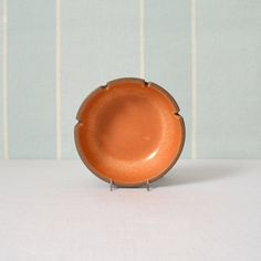 Heath Ceramics Pumpkin and Brown Ashtray by MidModMomStore on Etsy