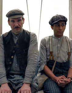 Ralph Fiennes and Tony Revolori as M. Gustave and Zero in Grand Budapest Hotel. Costume Designer: Milena Canonero.