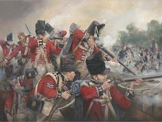 Le giubbe rosse a difesa di Hougoumont (The Guards defend Hougoumont, Waterloo, Waterloo 1815, Battle Of Waterloo, Military Art, Military History, Historical Art, Napoleonic Wars, British History, European History, History Books