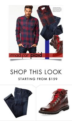 """""""Mad for Plaid"""" by leslee-dawn ❤ liked on Polyvore featuring 7 For All Mankind, Wolverine, men's fashion and menswear"""