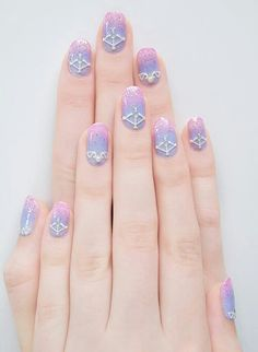 Nails Pastel Goth Kawaii 67 Ideas For 2019 Pastel Goth Nails, Goth Nail Art, Gothic Nails, Goth Art, Get Nails, Hair And Nails, Uñas Diy, Kawaii Nail Art, Nailart