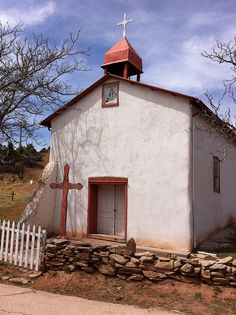 Humble church. This photo was taken on April 2011 in Glorieta, New Mexico, US