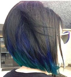 There is a new hair color trend in 2019 and it really has the wow factor. Peacock hair color is set to be big for the summer so check out some of the best looks Ombré Hair, New Hair, Hair Dye, Hair Shag, Blonde Hair, Black Hair With Highlights, Color Highlights, Hair Highlights, Black Hair Blue Tips