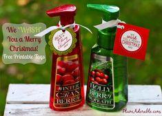 We 'Wash' You a Merry Christmas! {+ printable tags} #Christmas #gifts #soap