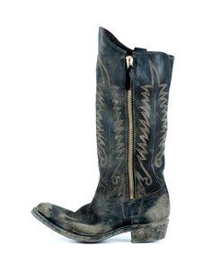 Golden Goose Deluxe Brand 'Golden Zip' Boots in Black - Brand New  #GoldenGoose #CowboyBoots