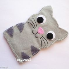 Kotek - etui na telefon | Cat felt cellphone case