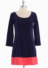 Ruche...Paulette Colorblock Dress...I Want!