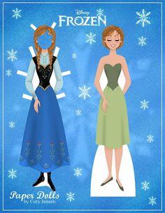 Reine des neiges paper dolls à imprimer