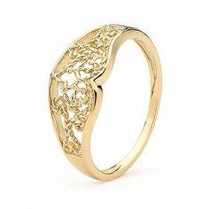 yellow gold filigree heart turkish wedding ring from karida jewelry