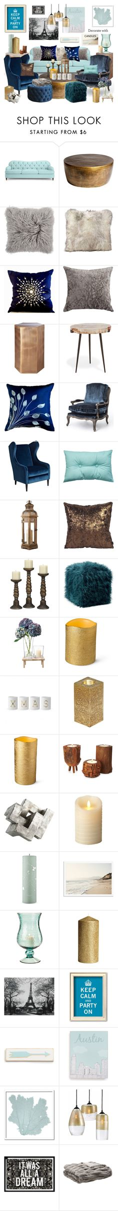 """Navy + Gold + Tiffany Blue"" by leiastyle ❤ liked on Polyvore featuring interior, interiors, interior design, home, home decor, interior decorating, Kate Spade, Global Views, CB2 and Essenza"