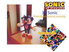 3D perler beads Sonic The Hedgehog Sega videogames assembly