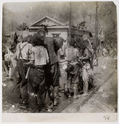 The people of Hiroshima after the atom bomb.