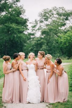 #Bridesmaids | Elegant Chicago Wedding from Jenelle Kappe Photography | Read more - http://www.stylemepretty.com/illinois-weddings/2013/11/15/elegant-chicago-wedding-from-jenelle-kappe-photography/