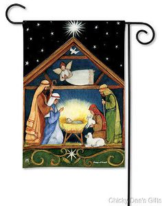 BreezeArt Garden Flag Bethlehem Christmas Nativity NEW