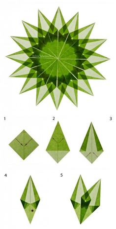 Make Christmas star - Paper Origami 💡 Origami Diy, Origami And Kirigami, Origami Stars, Origami Flowers, Origami Tutorial, Origami Paper, Diy Paper, Paper Crafting, Origami Ideas